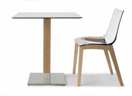 Design tisch holz natural buche metall modern kaufen bei for Tisch design metall