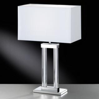 Design Tischleuchte, chrom, Höhe 55 cm