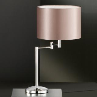 Design Tischleuchte, chrom, Höhe 52 cm
