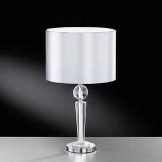 Design Tischleuchte, chrom, Höhe 45 cm