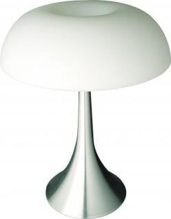 Design Tischleuchte, silber, modern, Höhe 42 cm