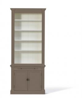 Bücherschrank im Landhausstil in vier Farben und drei Größen