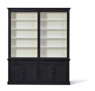 Bücherschrank im Landhausstil. drei Größen: 1m, 2 m und 3 m und vier Farben