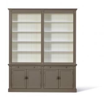 Bücherschrank im Landhausstil. Den Schrank gibt es in drei Größen: 1m, 2m und 3m und vier Farben - Vorschau 3