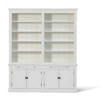 Bücherschrank im Landhausstil. Den Schrank gibt es in drei Größen: 1m, 2m und 3m und vier Farben - Vorschau 4