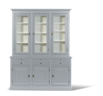 Vitrinen- Wohnzimmerschrank im Landhausstil in vier Farben und drei Größen - Vorschau 4
