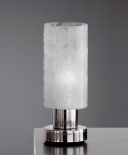 Design Tischleuchte, mattnickel, Höhe 20 cm