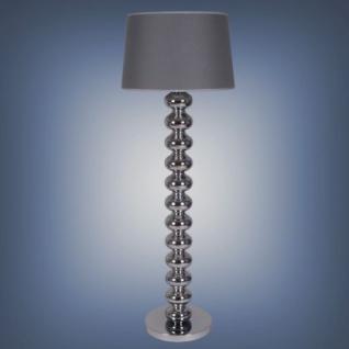 Moderne Stehleuchte mit einem grauen Lampenschirm, 154 cm Höhe