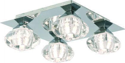 Design Deckenleuchte chrom Diamanten optik