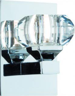 Design Wandleuchte chrom Diamanten opitk