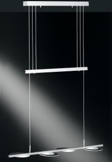 Design LED Pendelleuchte, Glas, chrom/matt, Breite 92 cm