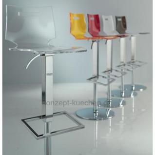 Design Barhocker mit eine transparente Sitzschale - Vorschau