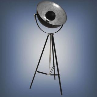 Moderne Stehleuchte, Farbe schwarz-silber - Vorschau 1