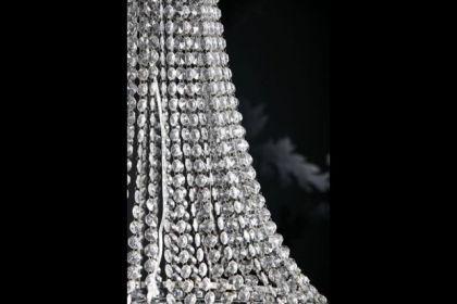 Kronleuchter aus Acrylglas, 4-flammig, Durchmesser 60 cm - Vorschau 4