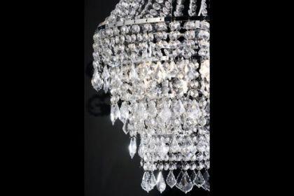 Kronleuchter aus Acrylglas, 4-flammig, Durchmesser 60 cm - Vorschau 2