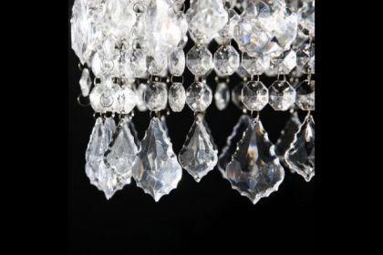 Kronleuchter aus Acrylglas, 4-flammig, Durchmesser 60 cm - Vorschau 3