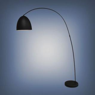 Moderne Bogenleuchte, Farbe schwarz, 40 cm Durchmesser