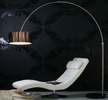 Bogenstehleuchte im modernen Stil, Farbe schwarz-satiniert - Vorschau 1