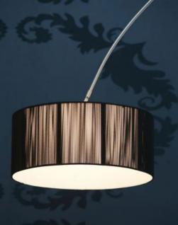 Bogenstehleuchte im modernen Stil, Farbe schwarz-satiniert - Vorschau 3