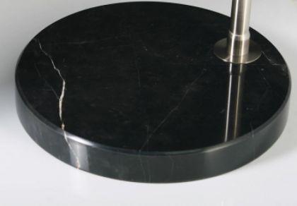 Bogenstehleuchte im modernen Stil, Farbe schwarz-satiniert - Vorschau 2