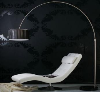 Bogenstehleuchte im modernen Stil, Farbe schwarz-satiniert - Vorschau 5