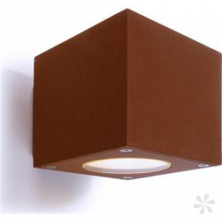 Outdoorleuchte aus Alu Druckguß, braun, + 2 Abblendklappen, LED