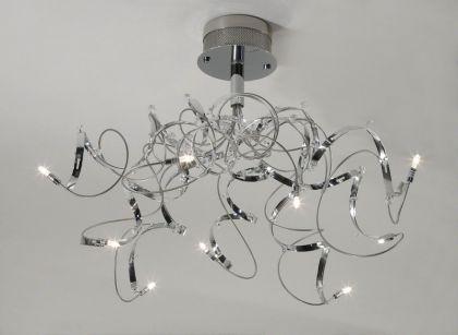 Deckenleuchte verchromt, Deckenlampe mit 9 Lämpchen, Ø 65 cm