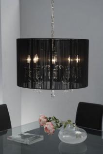 Hängelampe, Hängeleuchte mit einem schwarzen Lampenschirm, Ø 65 cm