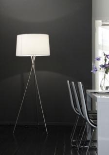 Stehleuchte, moderne Stehlampe mit einem weißen Lampenschirm, Höhe 173 cm