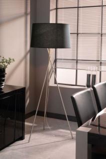 Stehleuchte, moderne Stehlampe mit einem schwarzen Lampenschirm, Höhe 173 cm