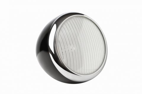 Tischleuchte Metall chrom Kunststoff schwarz modern - Vorschau 1