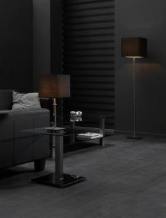 Stehlampe, Stehleuchte mit einem schwarzen Lampenschirm, Höhe 160 cm