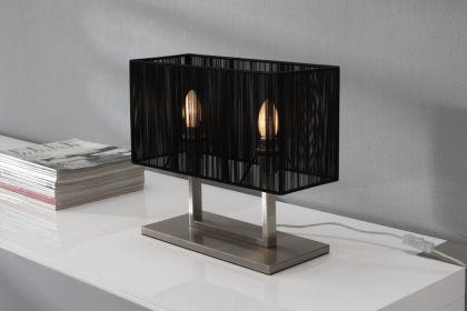 stehleuchte stehlampe mit einem schwarzen lampenschirm h he 165 cm kaufen bei richhomeshop. Black Bedroom Furniture Sets. Home Design Ideas