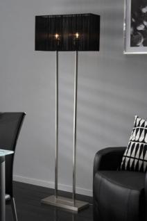 Stehleuchte, Stehlampe mit einem schwarzen Lampenschirm, Höhe 165 cm