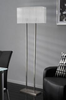 Stehleuchte, Stehlampe mit einem weißen Lampenschirm, Höhe 165 cm
