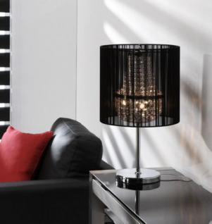 Tischlampe, Tischleuchte mit einem schwarzen Lampenschirm, Höhe 57 cm