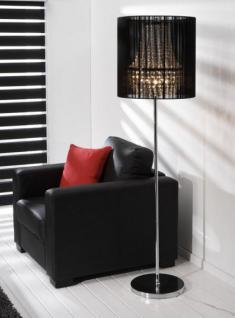 stehleuchte stehlampe mit einem schwarzen lampenschirm h he 171 cm kaufen bei richhomeshop. Black Bedroom Furniture Sets. Home Design Ideas