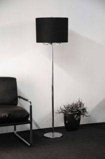 Stehleuchte mit einem schwarzen Lampenschirm mit fünf verchromten Armen - Vorschau 1
