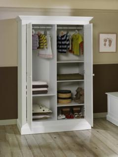 Kleiderschrank Hampton im Landhausstil in weiß - Vorschau 2