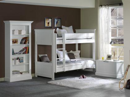 regal b cherregal hampton im landhausstil in wei. Black Bedroom Furniture Sets. Home Design Ideas