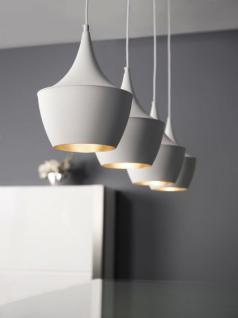 Hängeleuchte mit vier Schirmen aus Aluminium, Farbe weiß, Ø 24 cm - Vorschau 1