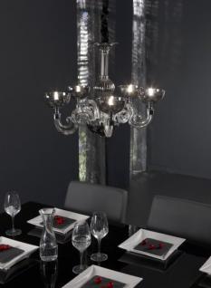 Kronleuchter mit 5-flammig, Hängeleuchte aus Glas, Acryl, verchromt, Ø 55 cm