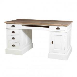 Schreibtisch im Landhausstil mit fünf Schubladen