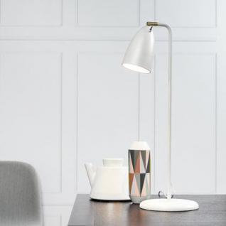 Tischleuchte Metall PVC weiß LED - Vorschau 1