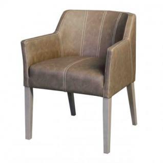 Stuhl mit Armlehne in fünf Farben