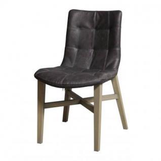 Stuhl mit Kunstleder bezogen in fünf Farben