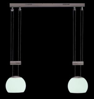 Pendelleuchte Metall satin Glas weiß modern dimmbar