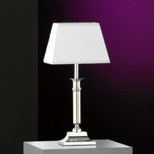 Design Tischleuchte, mattnickel/chrom, 20x12 cm