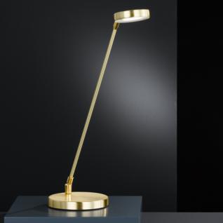 Design Tischleuchte, mattmessing/messing poliert, Höhe bis 52 cm verstellbar - Vorschau