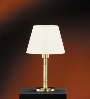 Design Tischleuchte, mattmessing/ poliert, Höhe 41 cm